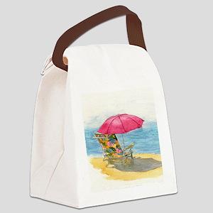 Beach Chair Canvas Lunch Bag