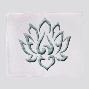 Lotus Flower Throw Blanket