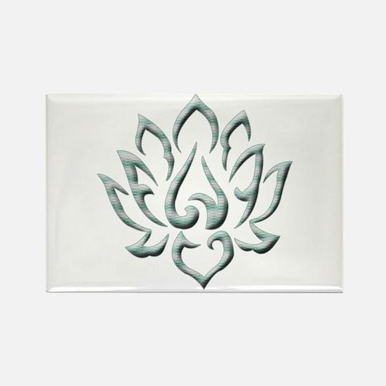 Lotus Flower Rectangle Magnet