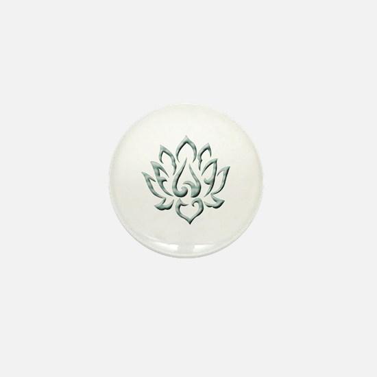 Lotus Flower Mini Button