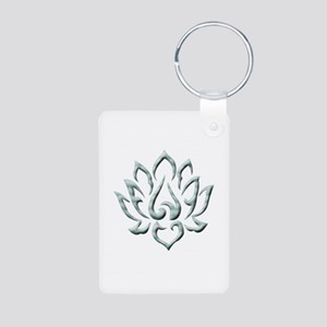 Lotus Flower Aluminum Photo Keychain