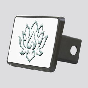 Lotus Flower Rectangular Hitch Cover