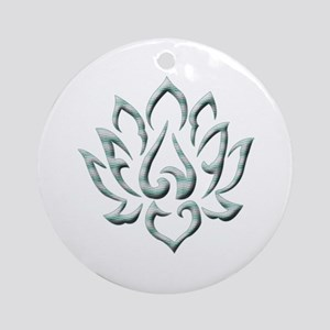 Lotus Flower Ornament (Round)