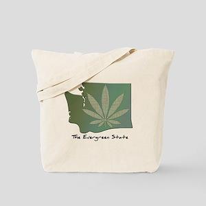 Washington State Pot Leaf - Evergreen State Tote B