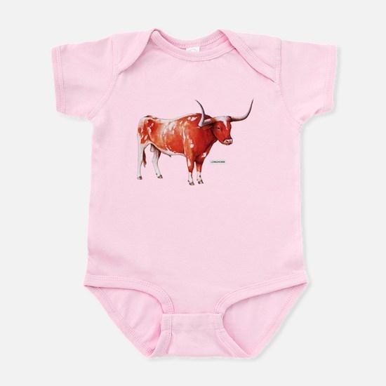 Longhorn Texas Cattle Infant Bodysuit