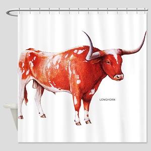 Longhorn Texas Cattle Shower Curtain