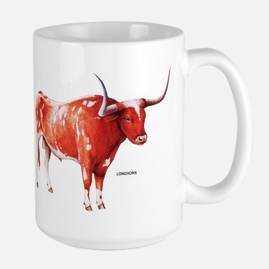 Longhorn Texas Cattle Large Mug