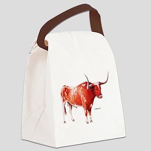 Longhorn Texas Cattle Canvas Lunch Bag