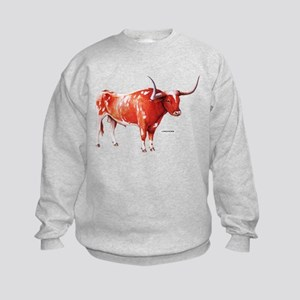 Longhorn Texas Cattle Kids Sweatshirt