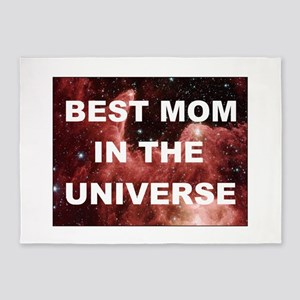 Mothers Day Best mom in the universe DARK 5'x7'Are