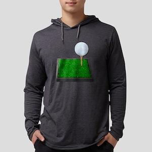 GolfBallOnTeeOnGrass102111 Mens Hooded Shirt