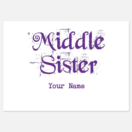 Middle Sister Grunge Purple - Personalized! Flat C