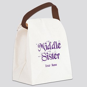 Middle Sister Grunge Purple - Personalized! Canvas