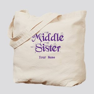 Middle Sister Grunge Purple - Personalized! Tote B