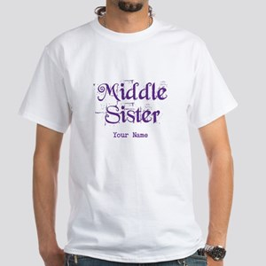 Middle Sister Grunge Purple - Personalized! T-Shir