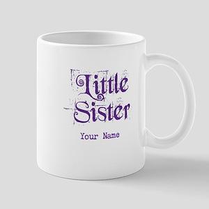 Little Sister Grunge Purple - Personalized Mug