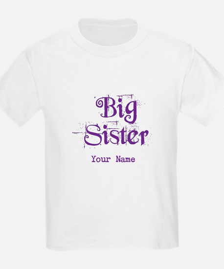 Big Sister Grunge Purple - Personalized T-Shirt