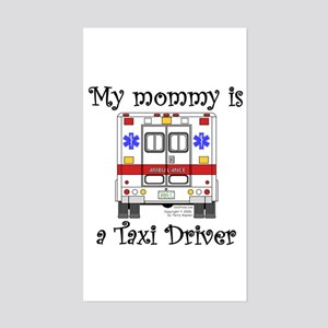 Taxi Driver Mommy Rectangle Sticker