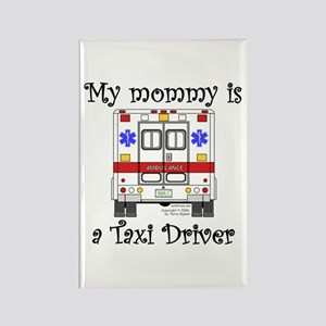 Taxi Driver Mommy Rectangle Magnet