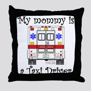 Taxi Driver Mommy Throw Pillow