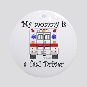 Taxi Driver Mommy Ornament (Round)