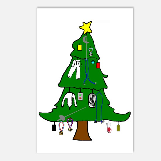 Fencer Christmas Cards Postcards (Package of 8)