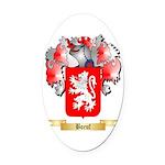 Boeuf Oval Car Magnet
