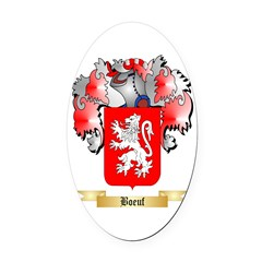 Boeuf Oval Car Magnet