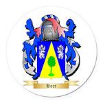 Boer Round Car Magnet