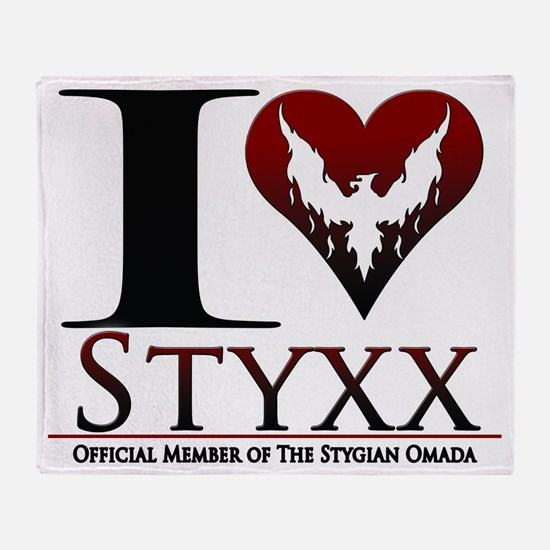 I Heart Styxx Throw Blanket
