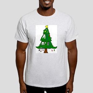 Fencing Christmas Ash Grey T-Shirt