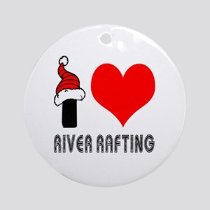 I Love River Rafting Ornament (Round)