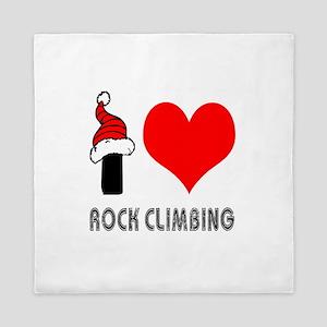 I Love Rock Climbing Queen Duvet