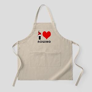 I Love Rowing Apron