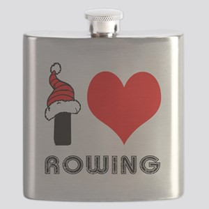 I Love Rowing Flask