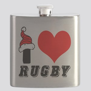 I Love Rugby Flask
