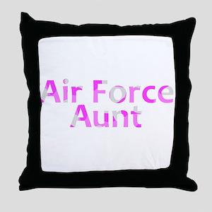 AF Aunt Pink Camo Throw Pillow