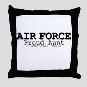 AF Proud Aunt Throw Pillow