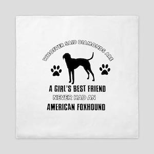 American Foxhound Mommy designs Queen Duvet
