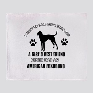 American Foxhound Mommy designs Throw Blanket