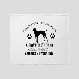American Foxhound Mommy designs Throw Blanket