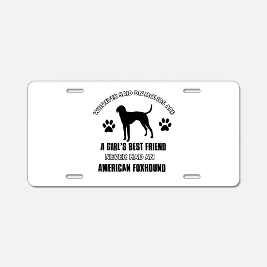American Foxhound Mommy designs Aluminum License P