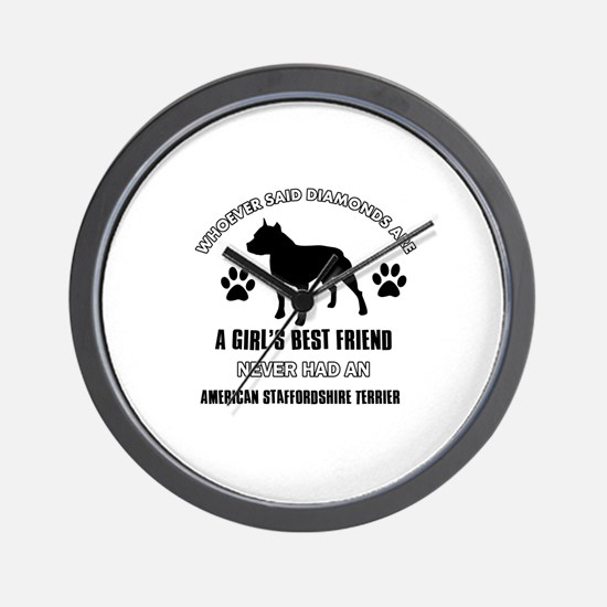 American Staffordshire Terrier Mommy designs Wall