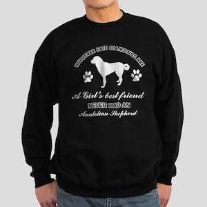 Anatolian Shepherd Mommy designs Sweatshirt (dark)