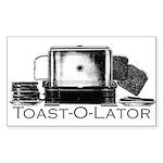 Toast-O-Lator Toaster Sticker (Rectangul