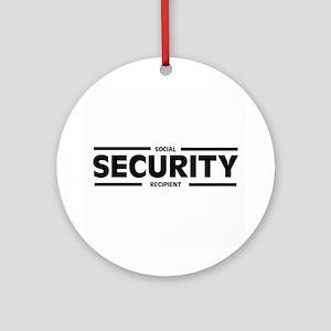 Social SECURITY Recipient Ornament (Round)