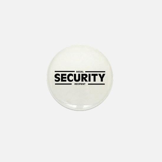 Social SECURITY Recipient Mini Button