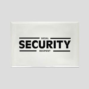 Social SECURITY Recipient Rectangle Magnet