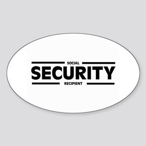Social SECURITY Recipient Oval Sticker