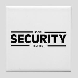 Social SECURITY Recipient Tile Coaster